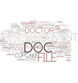 doc word cloud concept vector image vector image