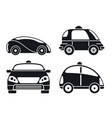 driverless car icon set simple style vector image