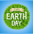 earth day green postcard vector image vector image