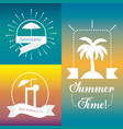 emblem of summer icon over colorful background vector image vector image