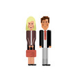 european staff couple in business suits vector image vector image