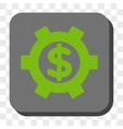Financial Settings Rounded Square Button vector image