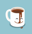 funny cartoon characters coffee cup vector image vector image
