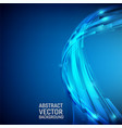 geometric blue color abstract background design vector image