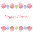 Hand drawn design Easter eggs border frame vector image vector image