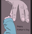 happy fathers day greeting card doodle sketch of vector image