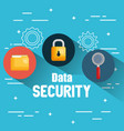 internet security set icons vector image vector image
