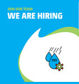 join our team busienss company water control we vector image