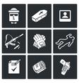 Killer Icons Set vector image vector image