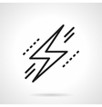 Lightning bolt symbol black line icon vector image