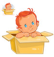 little baby with white skin vector image vector image