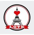 love in paris vector image vector image