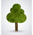 Low Poly tree design vector image
