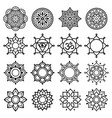 mandala geometric symbols simple design vector image