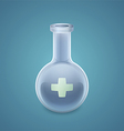 Medical round bottom flask vector image vector image