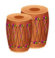 pair musical instrument punjabi drum dhol indian vector image
