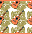 pattern seamless guitar-03 vector image vector image