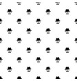 pattern with black gentleman portrait icon vector image vector image