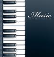 Piano keys background vector image vector image