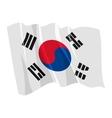 political waving flag of south korea vector image vector image