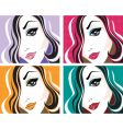 pop art face vector image vector image
