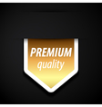 Premium quality tag vector image vector image
