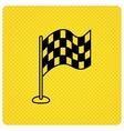 Racing flag icon Finishing symbol vector image