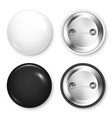realistic blank badges collection 3d glossy round vector image