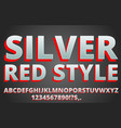 red silver font vector image vector image
