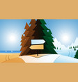 road and summer or winter vacation destination vector image vector image