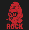 rock hand drawn in towel and vector image