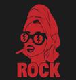 rock hand drawn in towel vector image