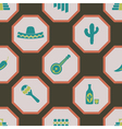 seamless background with symbols of Mexico vector image vector image