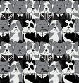 seamless pattern with the English Bulldog vector image