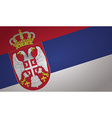 serbia flag vector image