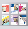 set of annual report brochure flyer design vector image vector image