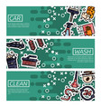 set of horizontal banners about car wash vector image