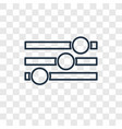 settings concept linear icon isolated on vector image vector image