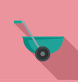 small wheelbarrow icon flat style vector image
