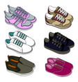 sport shoes sneakers sketch for adults and vector image