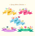 spring ribbon collection vector image