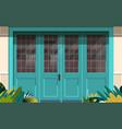 street cafe exterior modern coffee shop doors vector image
