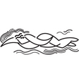 swimmer vector image vector image
