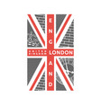 t-shirt printing design london united kingdom vector image