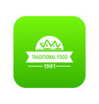 traditional food icon green vector image