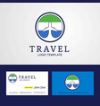 travel sierra leone creative circle flag logo and vector image vector image