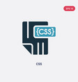 two color css icon from programming concept vector image vector image