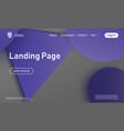 website landing page material design vector image