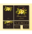Wedding set of various cards vector image vector image