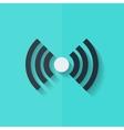 Wireless web icon Flat design vector image vector image